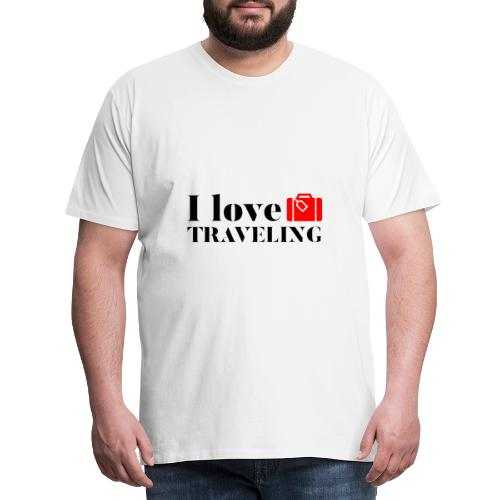 I love traveling - Men's Premium T-Shirt