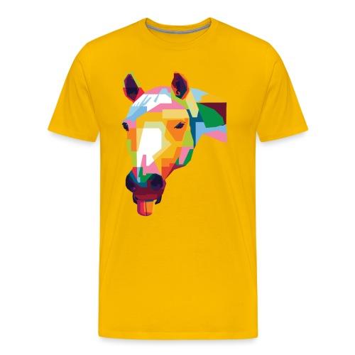 Pferde WPAP Design - Männer Premium T-Shirt