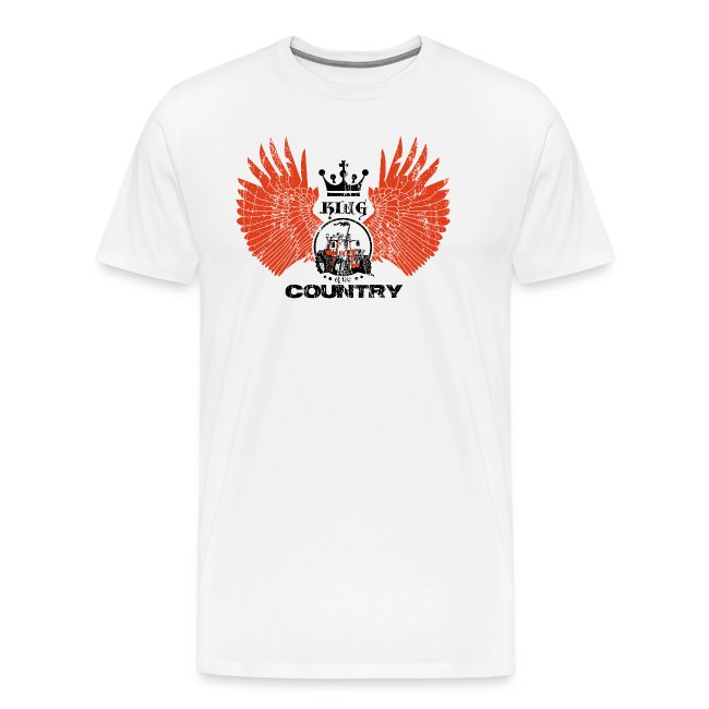 WINGS King of the country zwart rood op wit