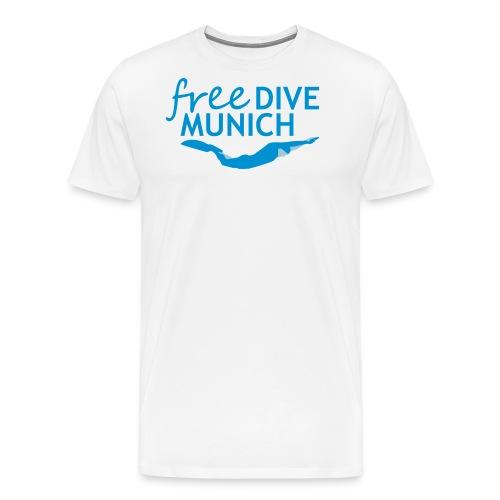 FreeDive Munich Logo zweifarbig - Männer Premium T-Shirt