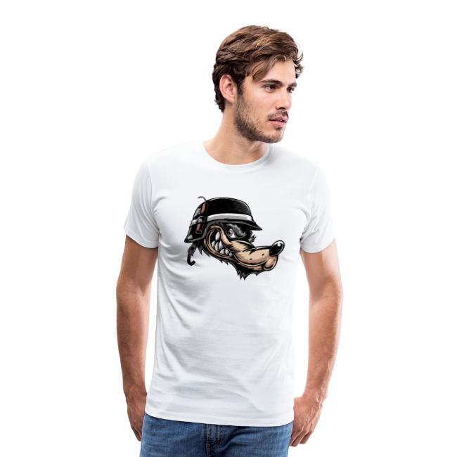 Wolf mit Helm