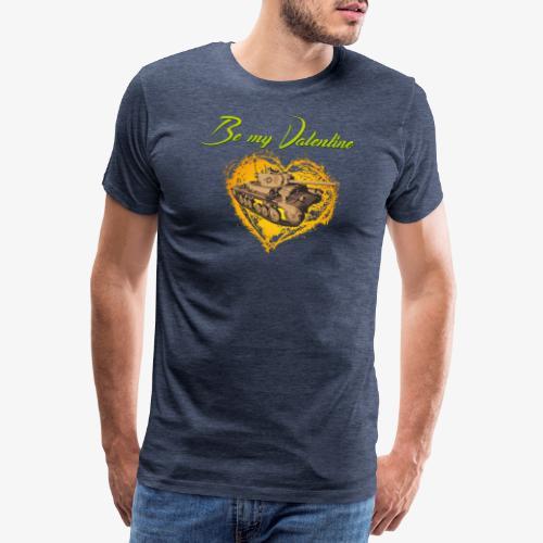 Glowing Valentine Heart - Männer Premium T-Shirt