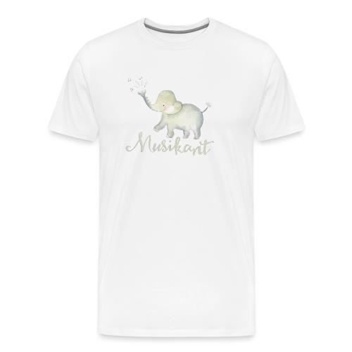 Elefant als Musikant - Männer Premium T-Shirt