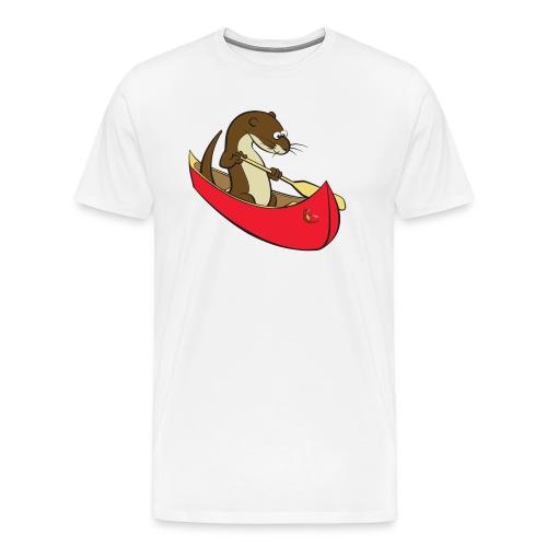 redcanoewithsticker - Men's Premium T-Shirt