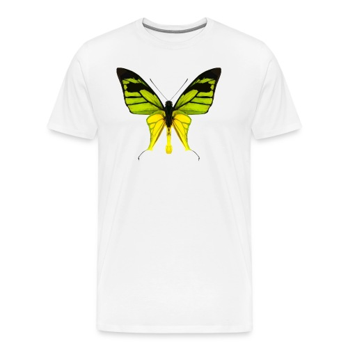 LowPoly Ornithoptera Paradisea - Premium-T-shirt herr