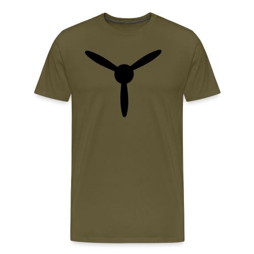 3 blade propeller 1 colour - Men's Premium T-Shirt