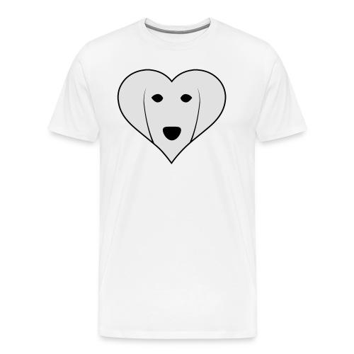 Saluki Heart - Maglietta Premium da uomo