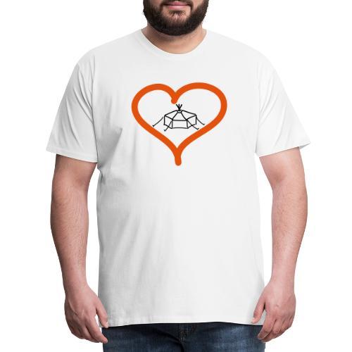 Herzjurte - Männer Premium T-Shirt