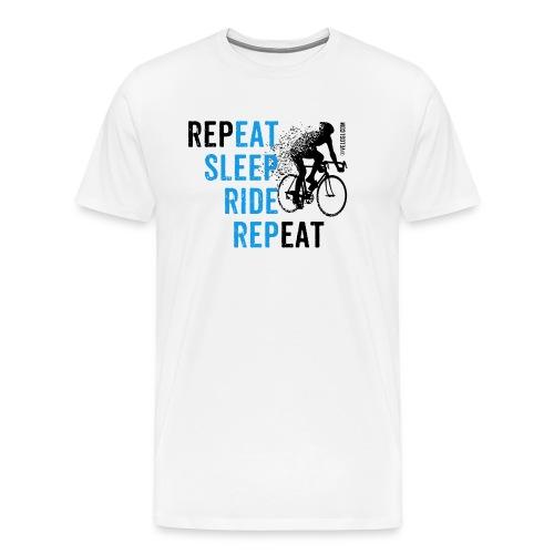 Eat Sleep Ride Repeat Road bike b - Miesten premium t-paita