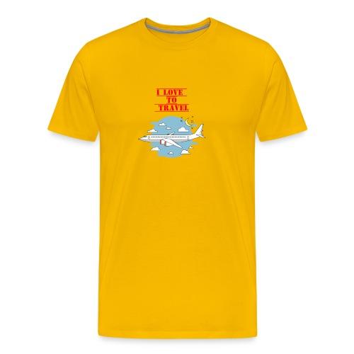 I Love To Travel - Maglietta Premium da uomo
