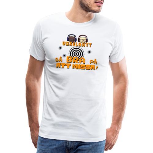 Voxelkatt BRA PÅ ATT MISSA - Premium-T-shirt herr