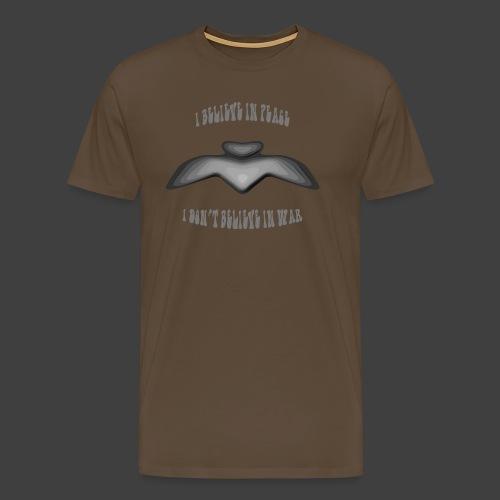 I believe in peace 4 png - Men's Premium T-Shirt