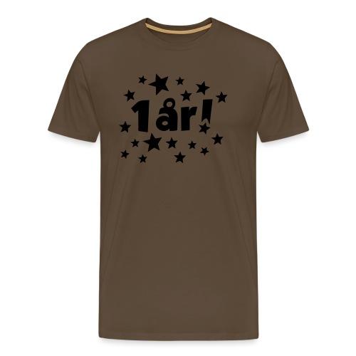 1 år! - Premium T-skjorte for menn
