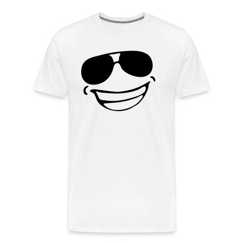 avec des heureux lunettes - T-shirt Premium Homme