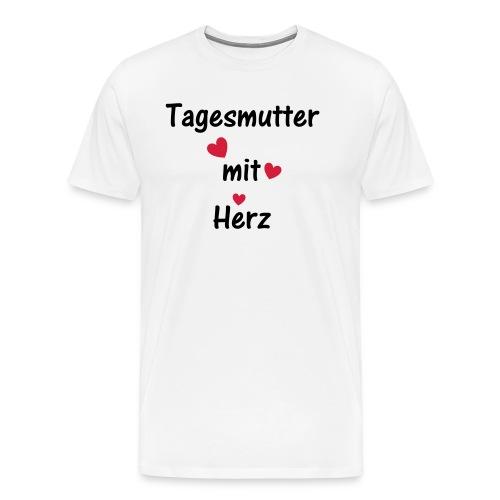 Tagesmutter mit Herz - Männer Premium T-Shirt