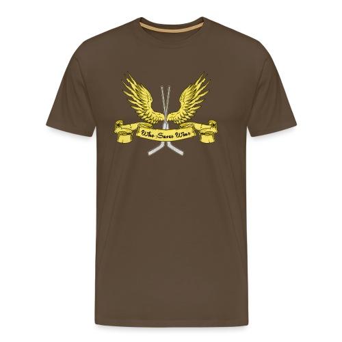 Who Saves Wins, Hockey Goalie - Men's Premium T-Shirt