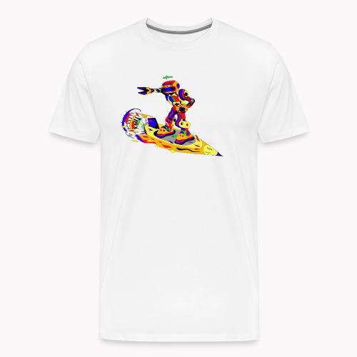 Robot disco rock surfer - T-shirt Premium Homme