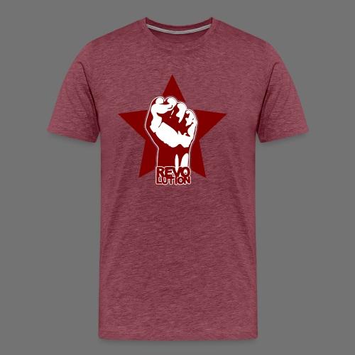 Vallankumous - Miesten premium t-paita