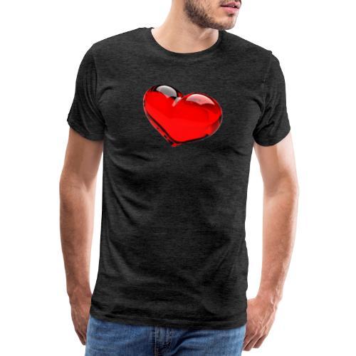 serce 3D - Koszulka męska Premium