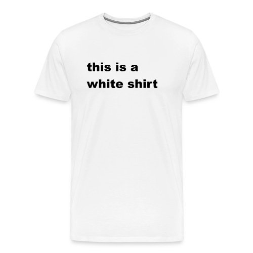White shirt - Männer Premium T-Shirt
