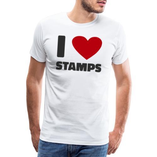 Love Stamps Marken Briefmarken Shirt Geschenk - Männer Premium T-Shirt