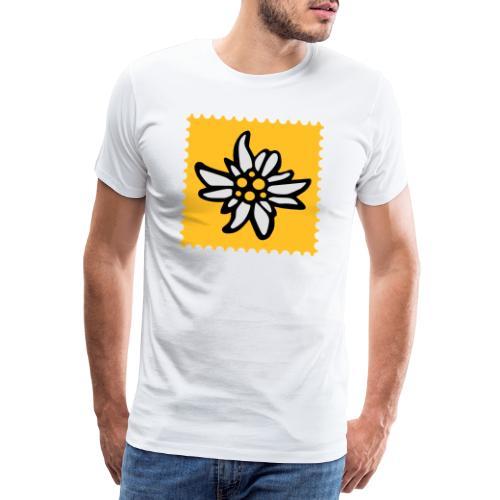 Briefmarke Edelweiss - Männer Premium T-Shirt