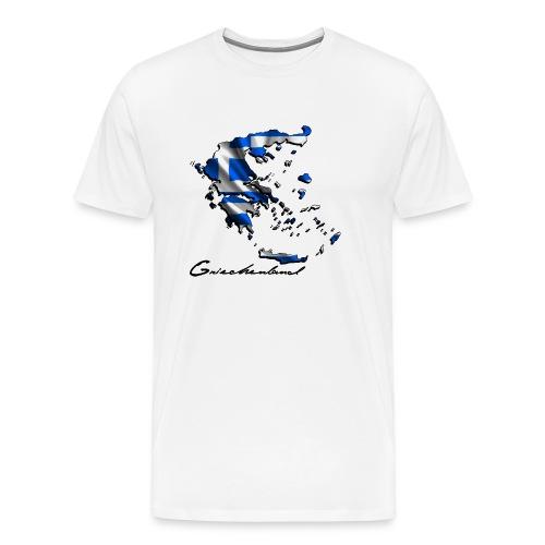 Landkarte-Griechenland - Männer Premium T-Shirt