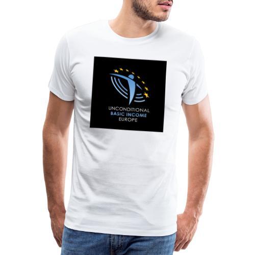 02 ubie on black centered square jpg - Mannen Premium T-shirt