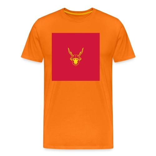 scimmiacervo sfondo rosso - Maglietta Premium da uomo