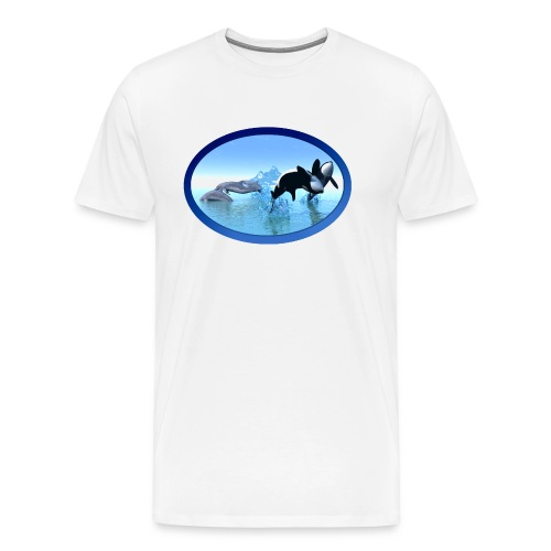 Dolfijnen en Orka's - Mannen Premium T-shirt