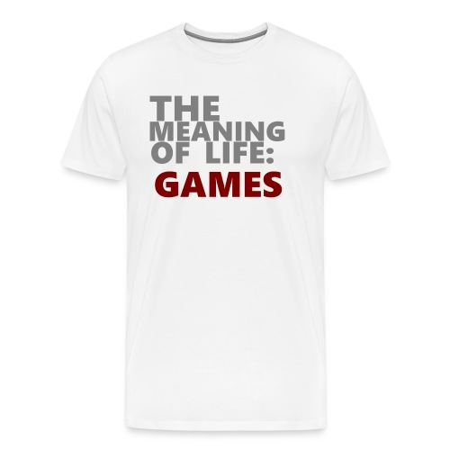 T-Shirt The Meaning of Life - Mannen Premium T-shirt