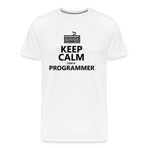 Keep calm programmer developer - Maglietta Premium da uomo