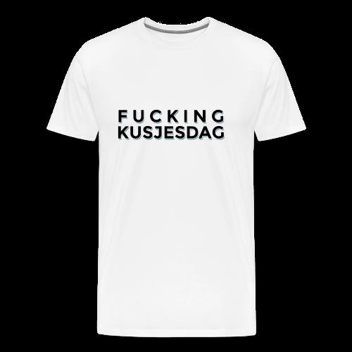 FUCKING KUSJESDAG (zwart) - Mannen Premium T-shirt