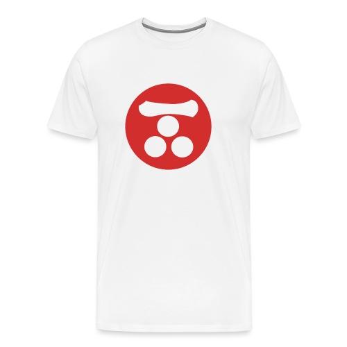 Mori Mon Japanese samurai clan in red - Men's Premium T-Shirt