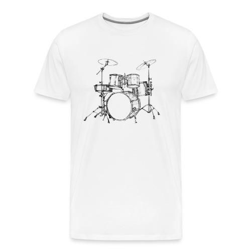 Bateria-png - Camiseta premium hombre