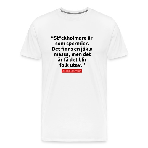 The Typical Stockholmare - Premium-T-shirt herr