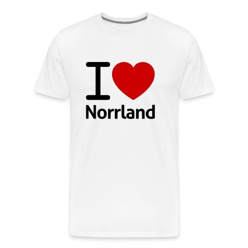 Jag Älskar Norrland (I Love Norrland) - Premium-T-shirt herr