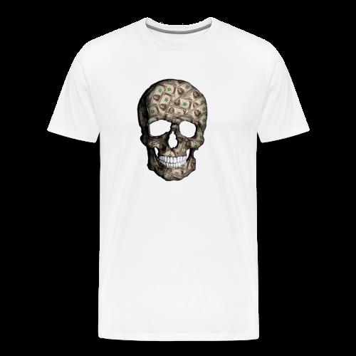 Skull Money Black - Camiseta premium hombre