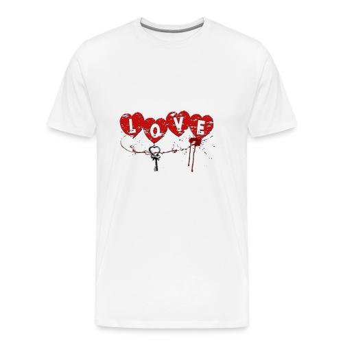Love HERZSCHLÜSSEL Blutsp - Männer Premium T-Shirt