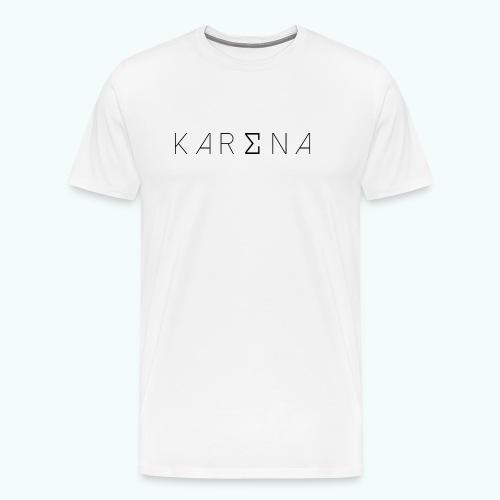 karena logo - Men's Premium T-Shirt