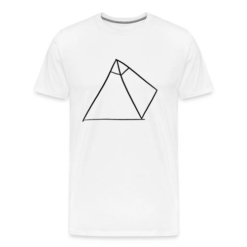 Tasse Blanche/Noir - Logo Noir P Y R A - T-shirt Premium Homme