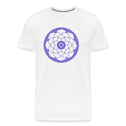 Purple Lotus Flower Mandala - Men's Premium T-Shirt