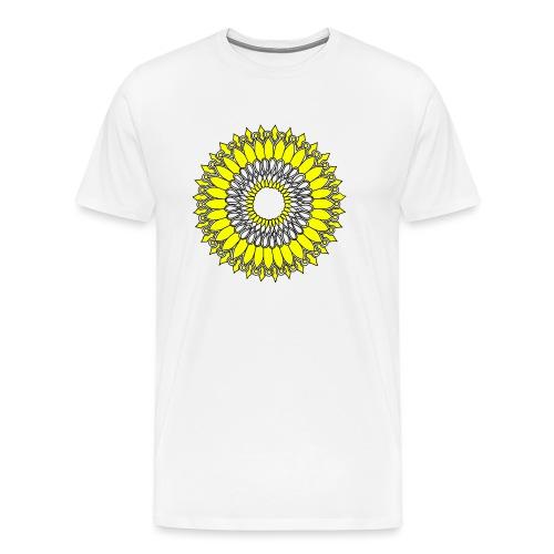 Yellow Sunflower Mandala - Men's Premium T-Shirt