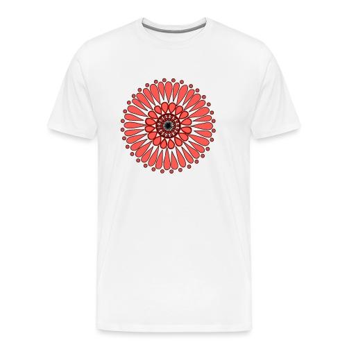 Peach Double Sunflower - Men's Premium T-Shirt
