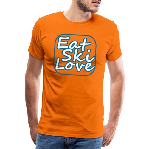eat ski love - Mannen Premium T-shirt