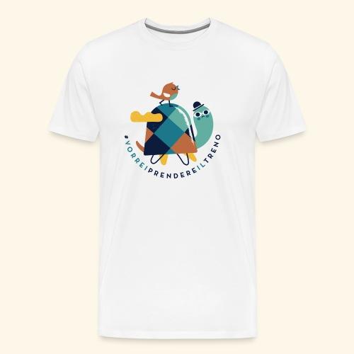 Tartaruga e uccellino - Maglietta Premium da uomo