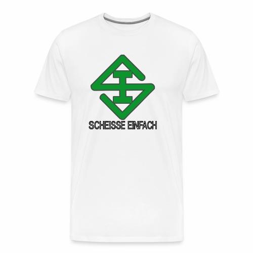 scheisse_einfach_logo_txt - Männer Premium T-Shirt