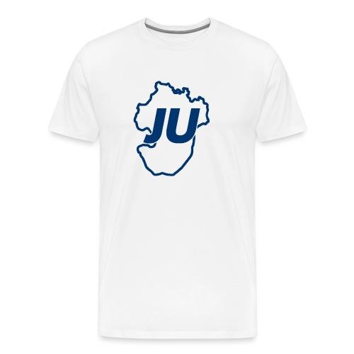 JU Umriss blau - Männer Premium T-Shirt