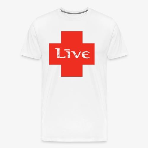 live cross HR png - Mannen Premium T-shirt