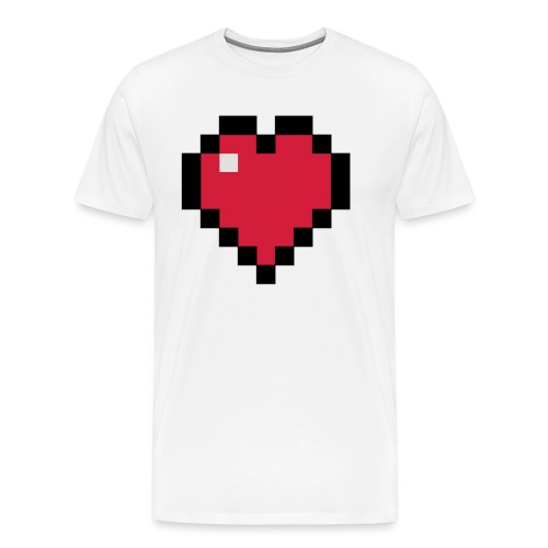 Pixelart Heart - Men's Premium T-Shirt